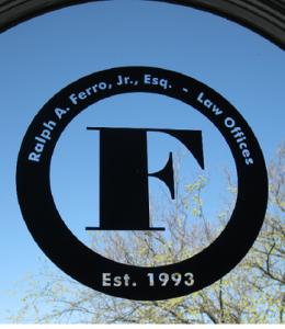 Ralph A Ferro Jr Esq Window of Office