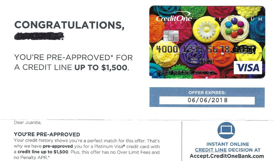 Credit One Pre Approval >> Visa Offers Credit Cards While Debtors Are In Bankruptcy Nj