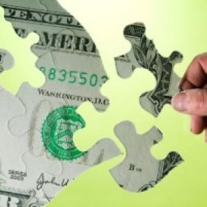 dollar with puzzle