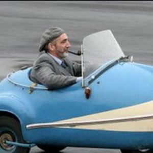 car man driving funny
